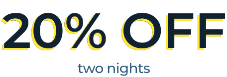 20% OFF one night
