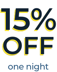 15% OFF one night