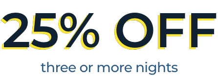 25% OFF one night