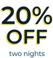 20% OFF two nights